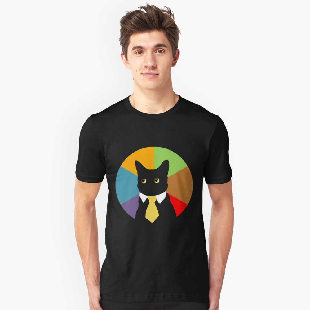 Business Cat (Stained Glass Window) Unisex T-Shirt Front