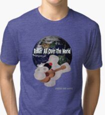 Hippo Rollin All Over The World Tri-blend T-Shirt