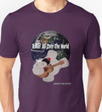 Hippo Rollin All Over The World Unisex T-Shirt