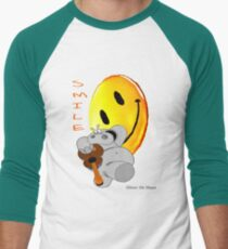 Chicot the Hippo and Smilie Men's Baseball ¾ T-Shirt
