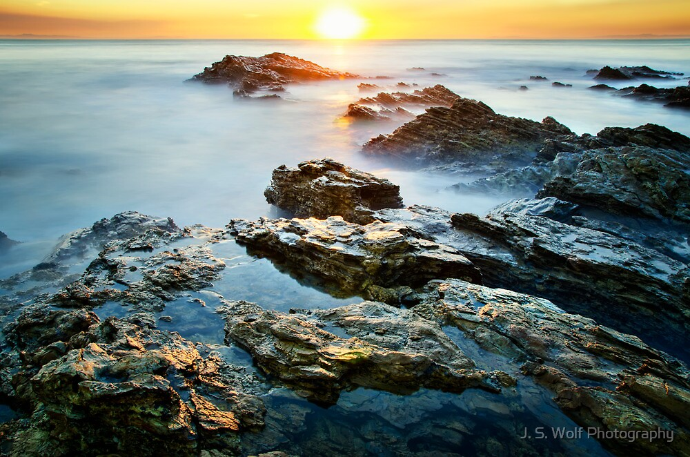 Horizontal Sunset by jswolfphoto