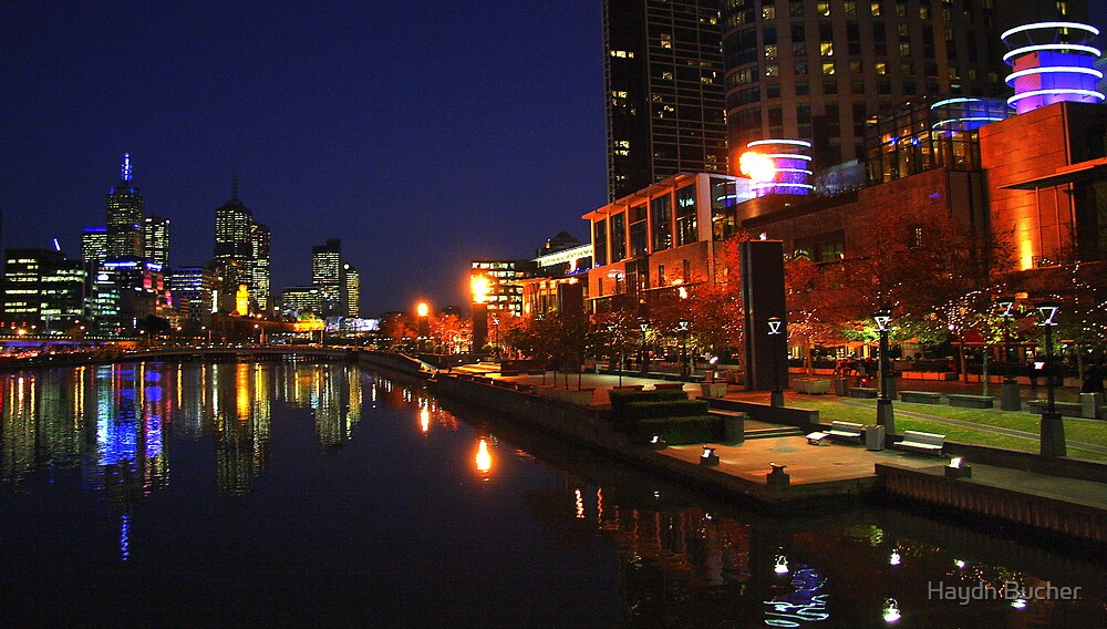 Melbourne City  city night scape by Haydn Bucher