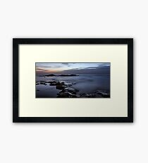 Relax with amazing view of sunset over Mediterranean sea Framed Print