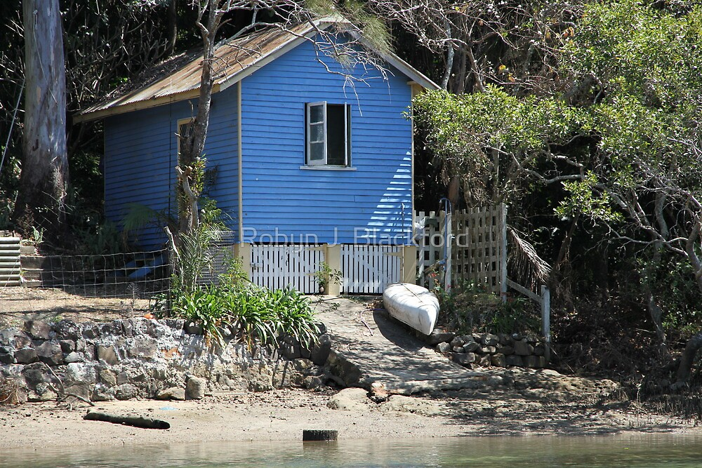 The Little Blue Boat Shed by aussiebushstick