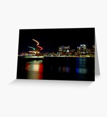 Halifax Harbour and Ferry at Night Greeting Card