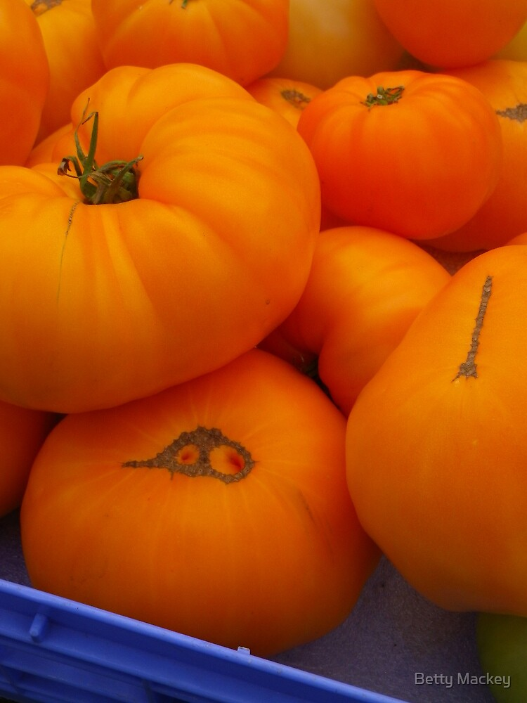 Orange Heritage Tomatoes by Betty Mackey
