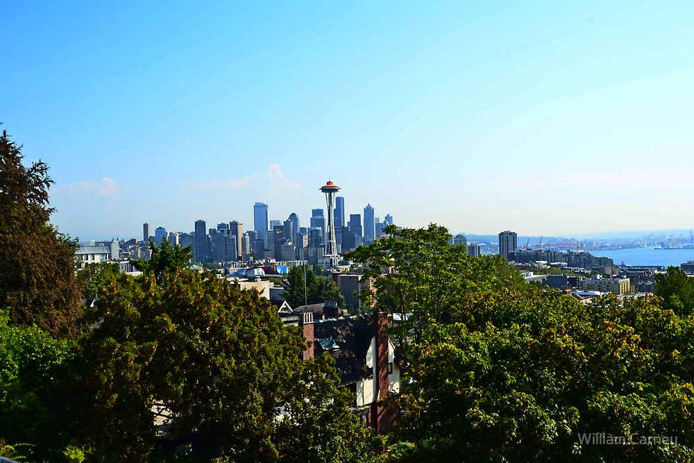 Kerry Park on Queen Anne View of Seattle by William Carney