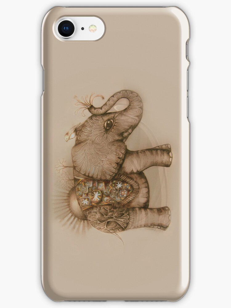 magic elephant iPhone Case by © Karin Taylor