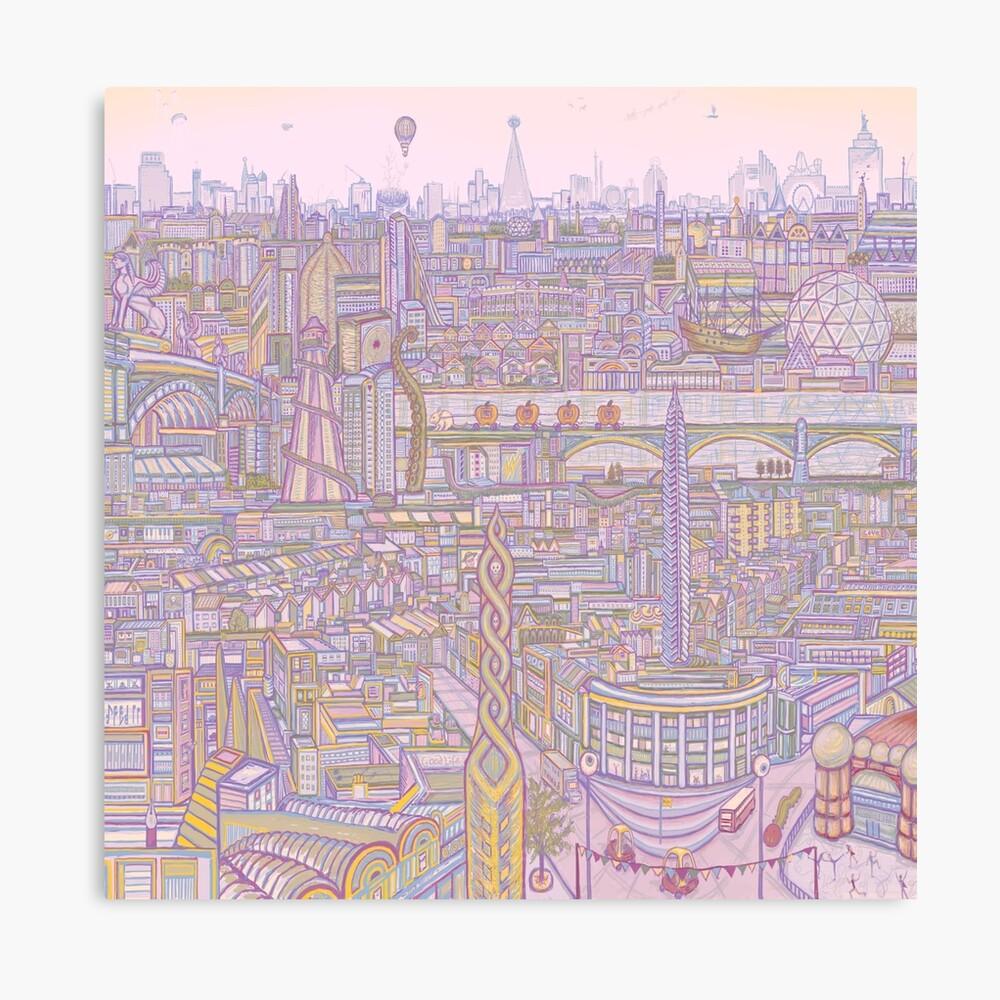 THE MEGATROPOLIS (warm hues) Canvas Print