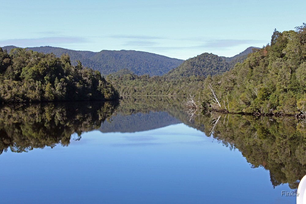 Reflections on The Gordon River, TAS by Finkie