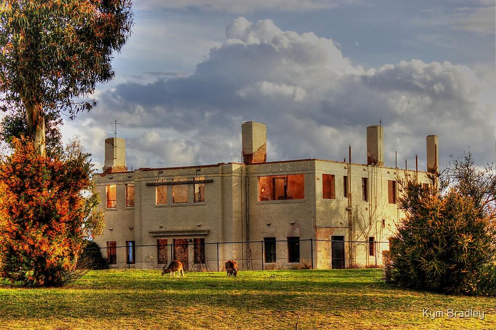 Ruins Mt Stromlo Canberra Australia by Kym Bradley