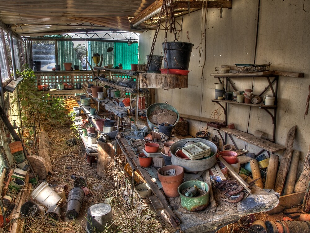 Old Plant Nursery Shed by Joel Bramley