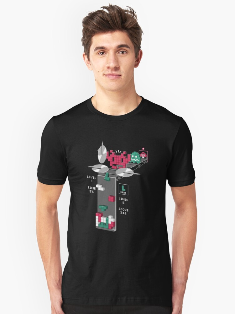 The Truth Behind Tetris Unisex T-Shirt Front