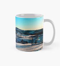 Smooth hills in winter wonderland Mug