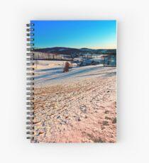 Smooth hills in winter wonderland Spiral Notebook