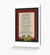 Live your life, Chief Tecumseh Greeting Card