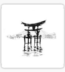 istukushima temple Sticker