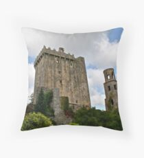 Blarney Castle and the Keepers Watch Tower, County Cork, Ireland Throw Pillow