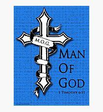 M.O.G. Man of God Print design 5 Photographic Print