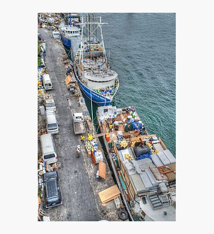 Loading Day at Potter's Cay Dock in Nassau, The Bahamas Photographic Print