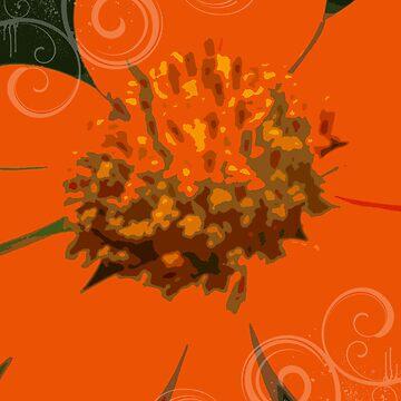 Orange Flower by Papilio