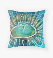 Kachina Was a Dancer original painting Throw Pillow