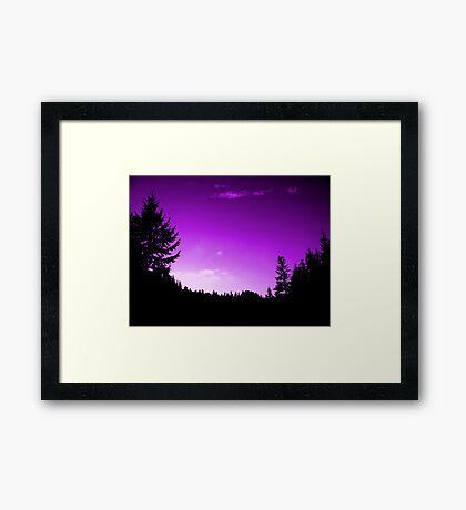 Purple Skies (available in ipad) Framed Print