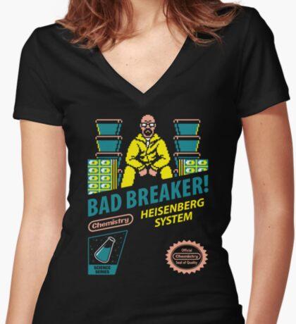 BAD BREAKER! Women's Fitted V-Neck T-Shirt