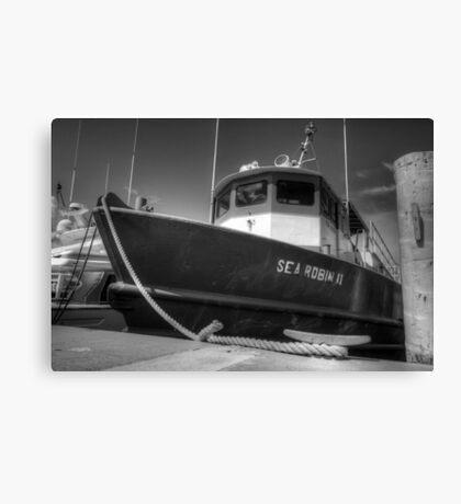 Sea Robin II docked at the Marina in Nassau, The Bahamas Canvas Print