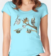Know Your Sloths Women's Fitted Scoop T-Shirt