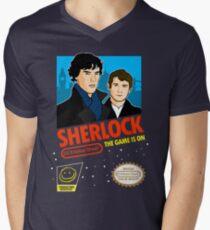 Sherlock NES Game Men's V-Neck T-Shirt