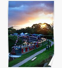 Towpath Sunset Poster