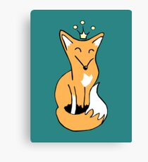 Red Fox King Canvas Print