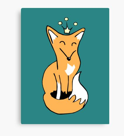 Red Fox King Canvas Print