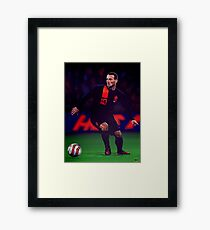 Wesley Sneijder painting Framed Print