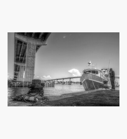 Under the bridge at Potter's Cay in Nassau, The Bahamas Photographic Print