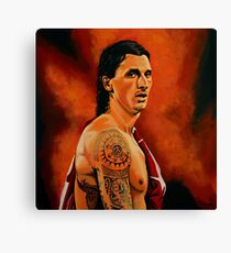 Zlatan Ibrahimovic painting Canvas Print