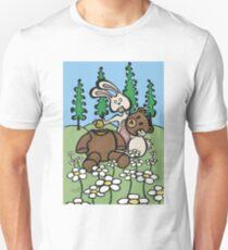 Teddy Bear and Bunny - Sweet Golden Blood T-Shirt
