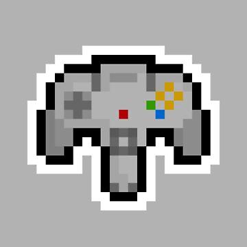 Pixel Nintendo 64 Controller by PixelBlock