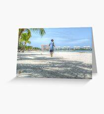 Bahamian Boy at Montagu Beach Greeting Card
