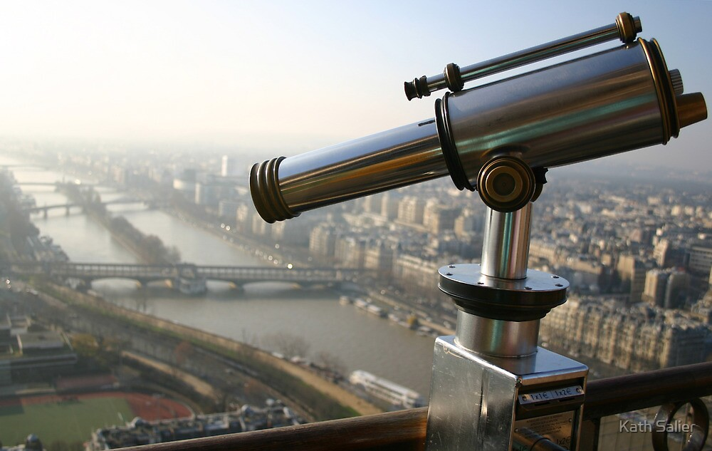 Telescope - Eiffel Tower, France by Kath Salier