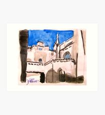 Cathedral Roofs of Aix Art Print