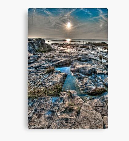Sunset on the St. Lawrence River Canvas Print