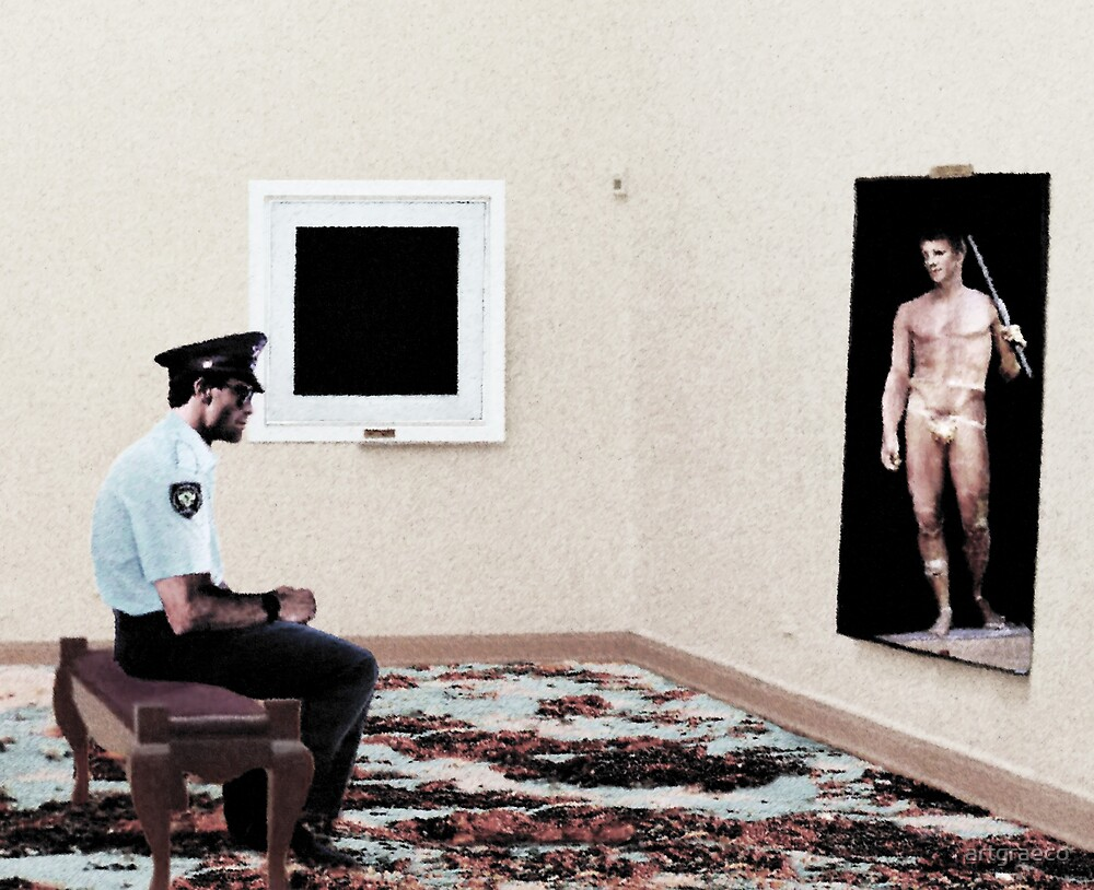 Arresting from The Watchman's Loneliness series by artgraeco