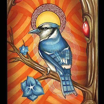 Blue Bird Iphone case by Psycheart
