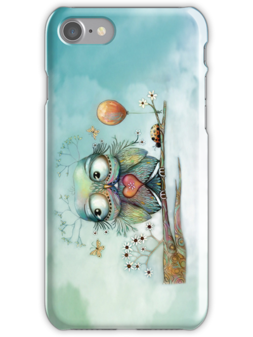 little wood owl iPhone and iPod case by © Karin Taylor