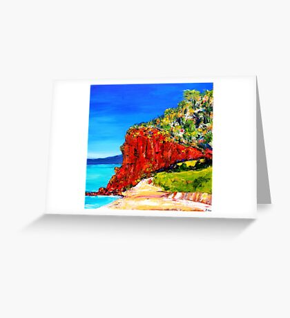 """Red Bluff"" Mornington Beach Greeting Card"