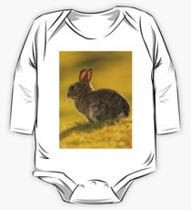 Cute Rabbit Wildlife Golden Hour One Piece - Long Sleeve