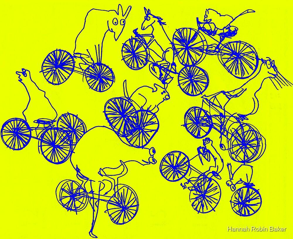 Bikey Likey - Yellow by Hannah Baker - Jamface