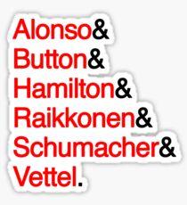 6 World Champions - Jetset (Black) Sticker